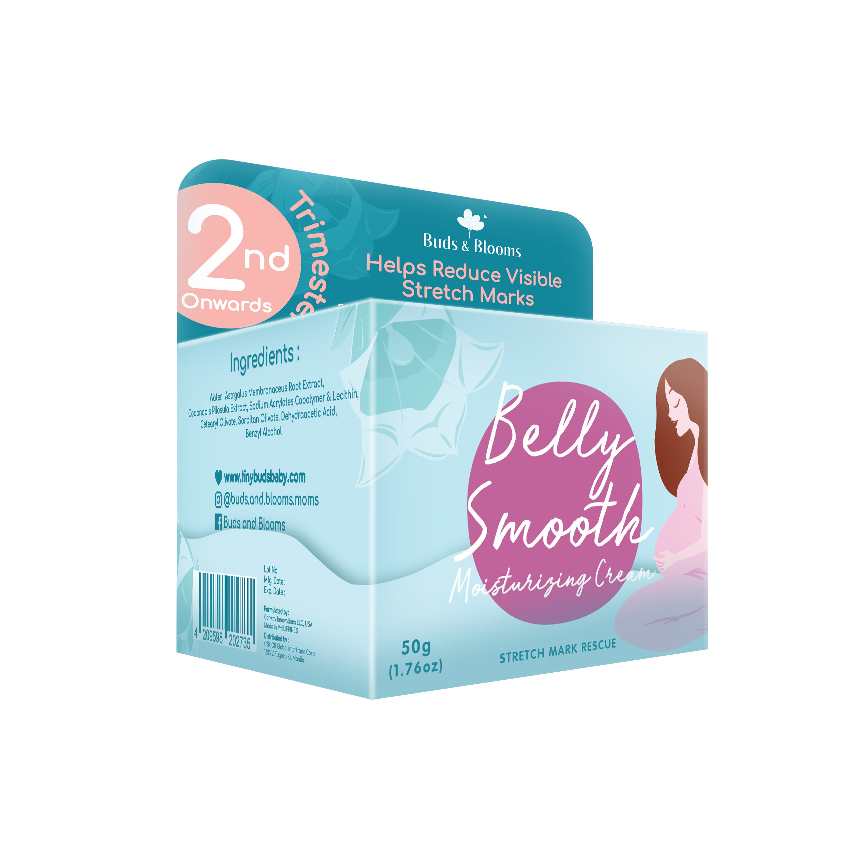 BUDS & BLOOMS Belly Smooth Stretch Mark Cream 50g