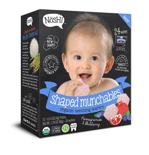 Shaped Munchables Teething Wafers, Blueberry & Pomegranate