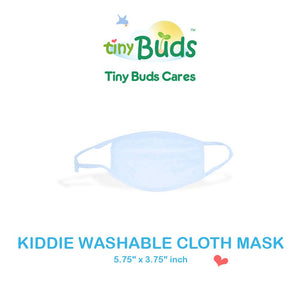 Kids Washable Cloth Face Masks made from 100% Cotton - For Kids (Blue)