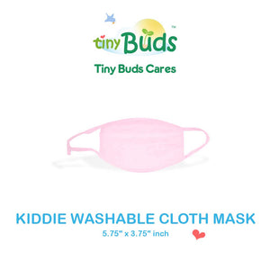 Kids Washable Cloth Face Masks made from 100% Cotton - For Kids (Pink)