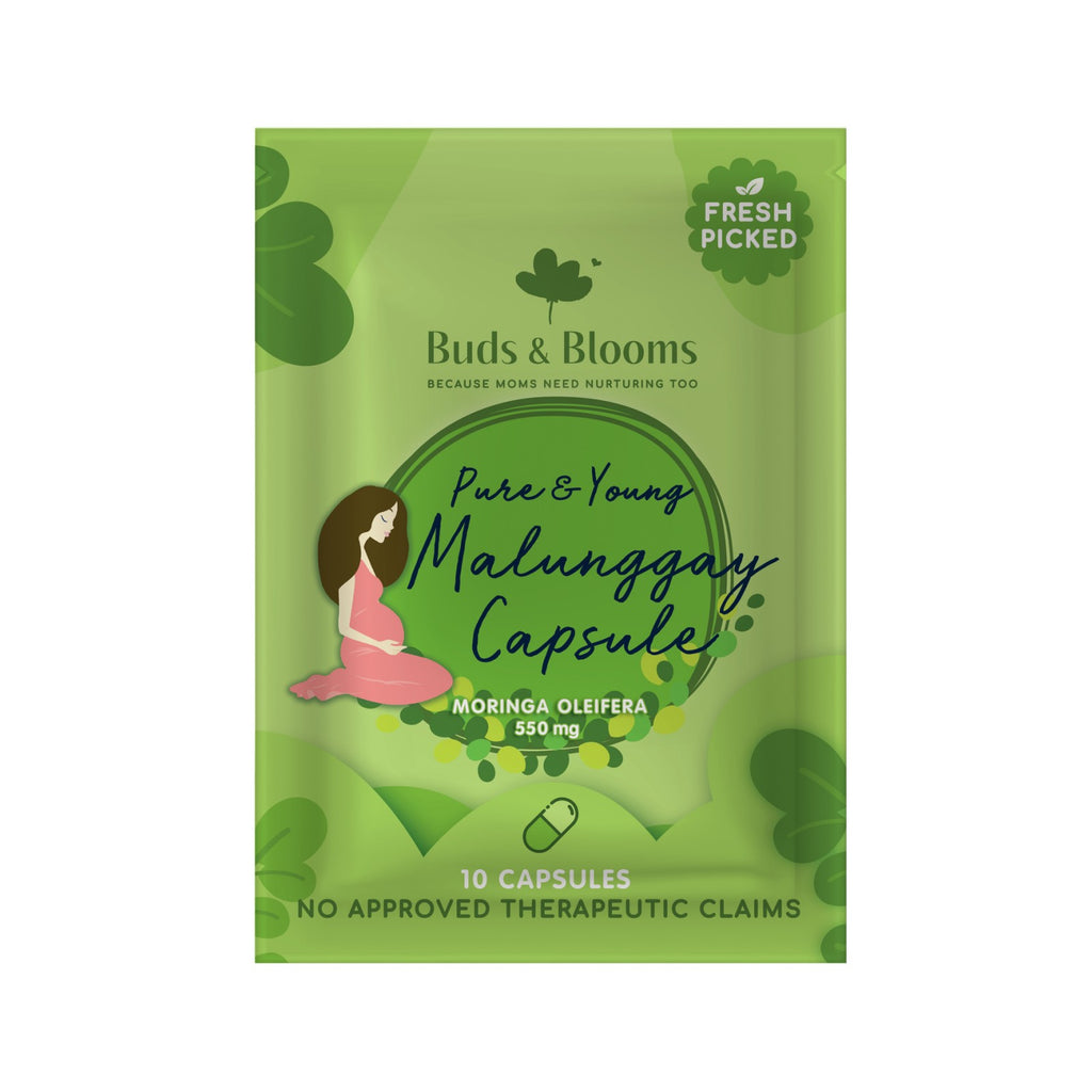 BUDS & BLOOMS Pure & Young Malunggay Capsule Sachet 10s