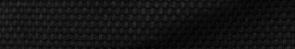 Close up of a black double weave cotton fabric