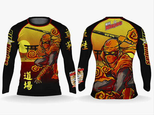 BJJ Ninja's T-Shirt Waraji Rashguard Long Sleeve (Pre-order/ETA:Early december)
