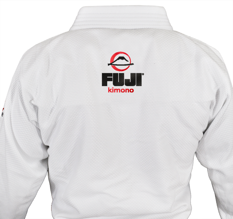 Fuji sports All Around BJJ Gi beginner white back stitching logo