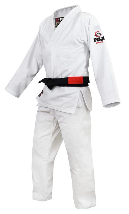 Fuji sports All Around BJJ Gi beginner white side left