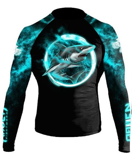 Raven Masters of Jiu Jitsu - Great White Rashguard