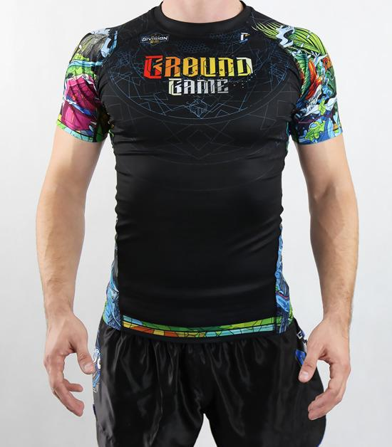 Front view of a Ground Game Carioca Rashguard