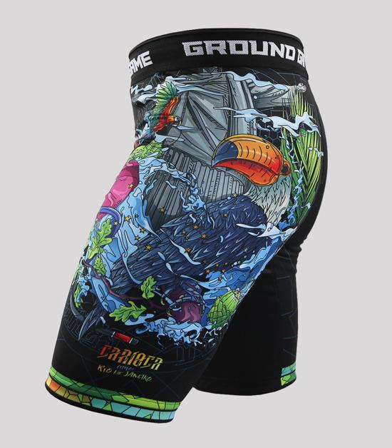 Right side view of a Ground Game Carioca Vale Tudo Shorts