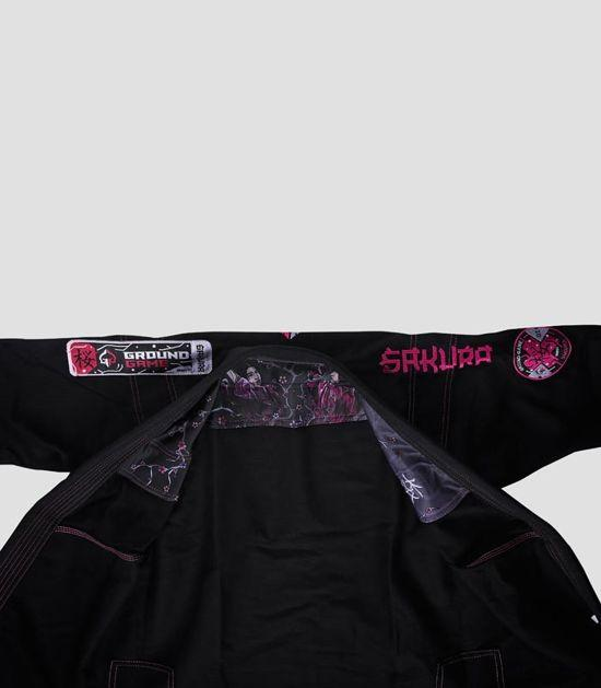 Jacket of a Ground Game Sakura BJJ Women`s Gi Black