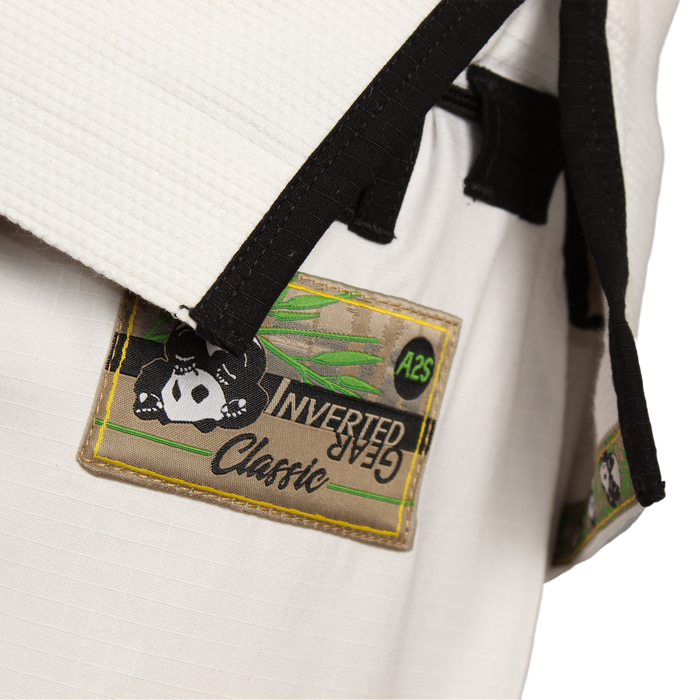 Inverted Gear Panda Classic Gi white pants front label