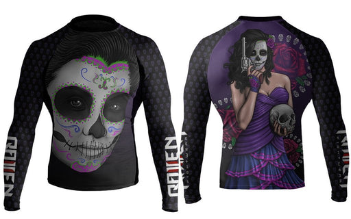 Raven Dia De Los Muertos Isabella Rash Guard Long Sleeve