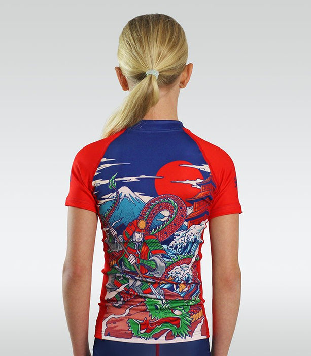 Ground Game Tatakai Kids Rashguard Short Sleeve