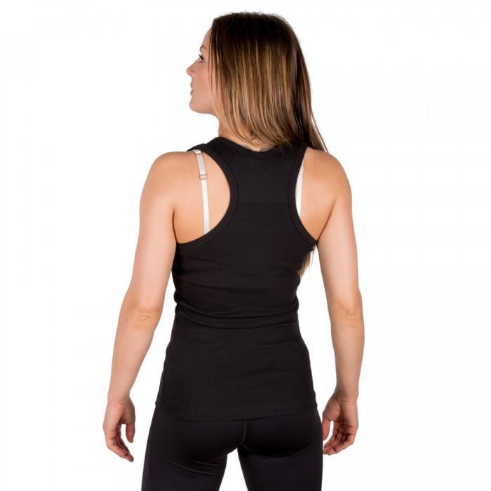 Tatami Ladies Black Ribbed Racer-back Vest