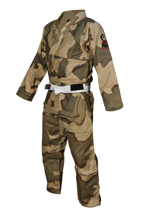 Fuji sports All Around BJJ Gi beginner camo side left