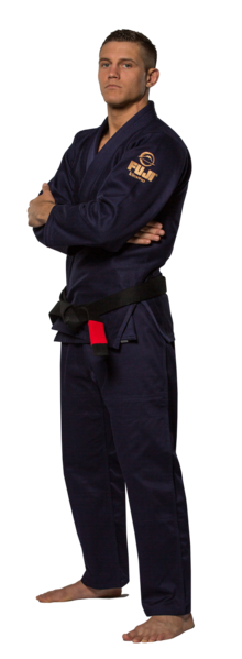 Fuji sports All Around BJJ Gi beginner navy blue side left