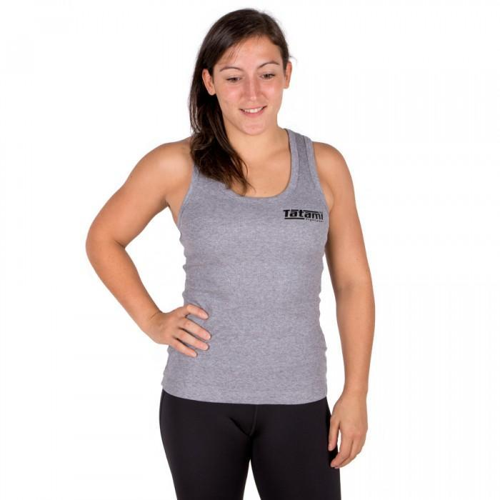 Tatami Ladies Grey Ribbed Racer-back Vest