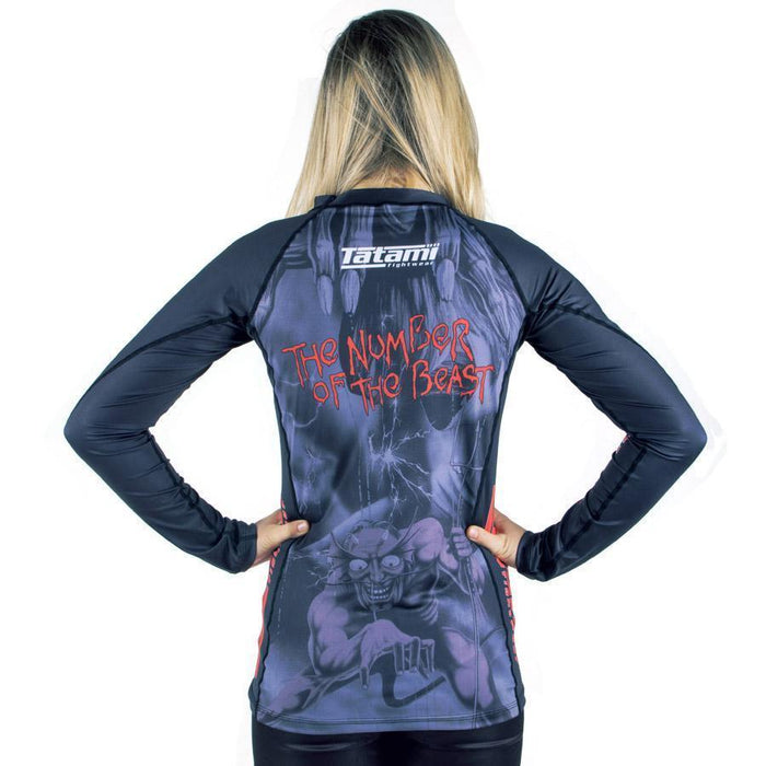 Tatami Ladies Iron Maiden Number of the Beast Rash Guard