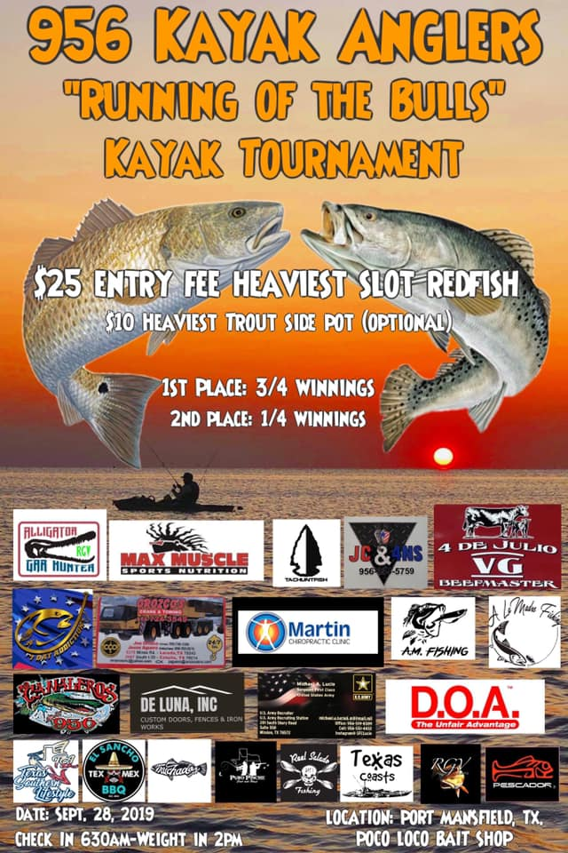 Sept 28th 2019 956 Kayakers Running of the Bulls Kayak Tournament