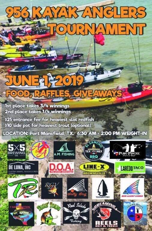 956 Kayak Anglers Tournament June 1st 2019