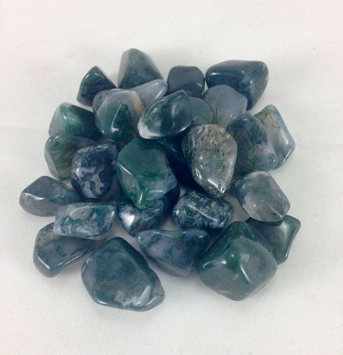 moss green agate polished crystal