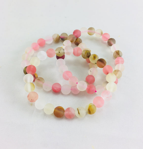 Crystal Bracelet - Quartz, Watermelon - Essential Relaxation