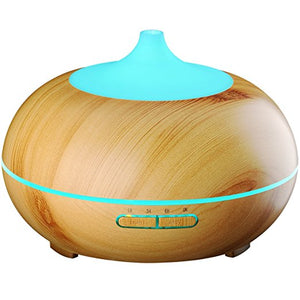 Aromatherapy Woodgrain High Capacity Diffuser - Essential Relaxation