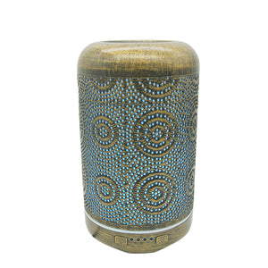 Aromatherapy Metal Circles Diffuser - Essential Relaxation