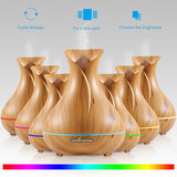 Aromatherapy Tall Woodgrain Diffuser - Essential Relaxation