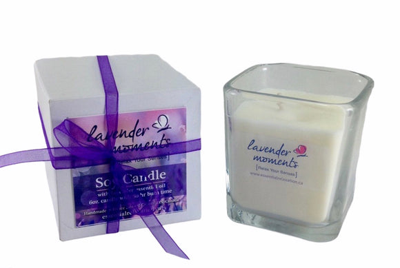 Lavender Moments Soy Candle - Essential Relaxation