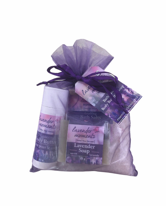 Lavender Moments Organza Kit - Essential Relaxation