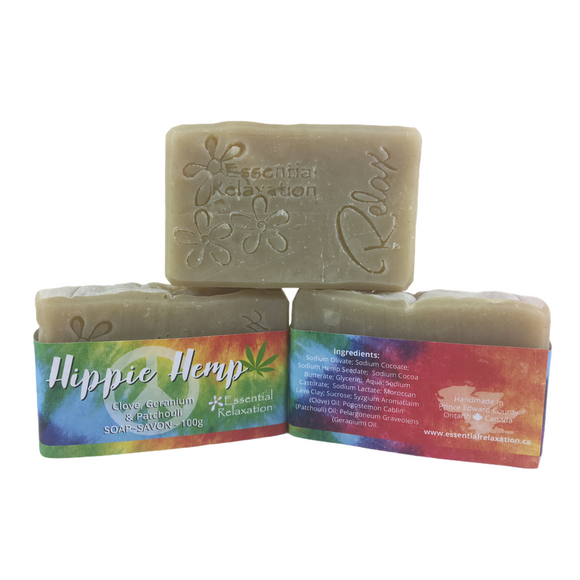 Hippie Hemp Bar Soap - Essential Relaxation