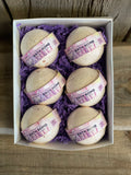 Bath Bomb 6pk + Free Candle - Essential Relaxation