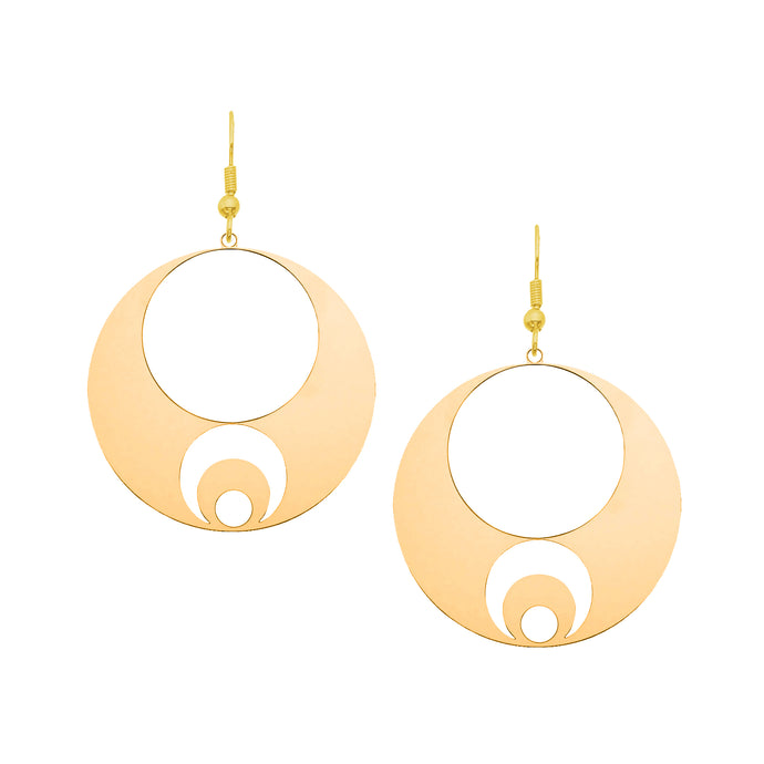 Orbital Hoop Moon Earrings