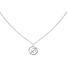 Load image into Gallery viewer, Sagittarius Zodiac Symbol Necklace