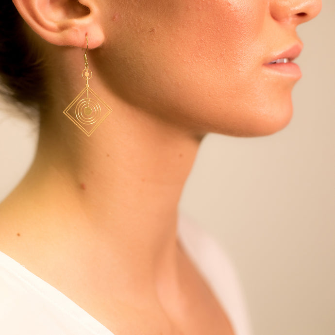 Diamond Space Frequency Earrings