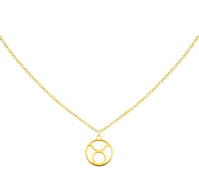 Load image into Gallery viewer, Taurus Zodiac Symbol Necklace