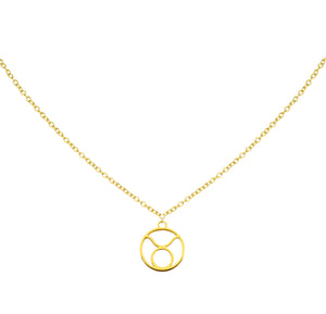 Taurus Zodiac Symbol Necklace