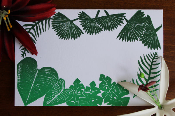 Green Tropical Notecard