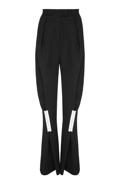 HIGH-RISE WIDE-LEG TAPERED PANTS | Janashia | CULT MIA