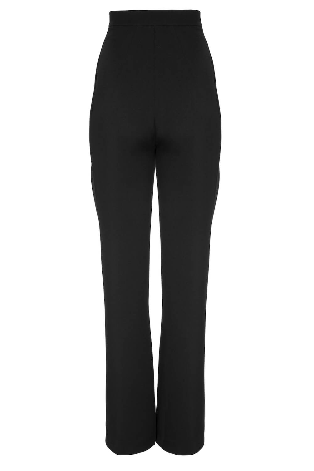 HIGH-RISE WIDE-LEG TAPERED PANTS