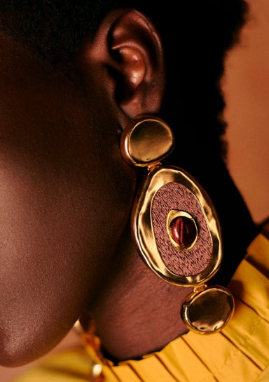 HEMATITA GOLD-PLATED EARRINGS | Daniela Hoyos | CULT MIA