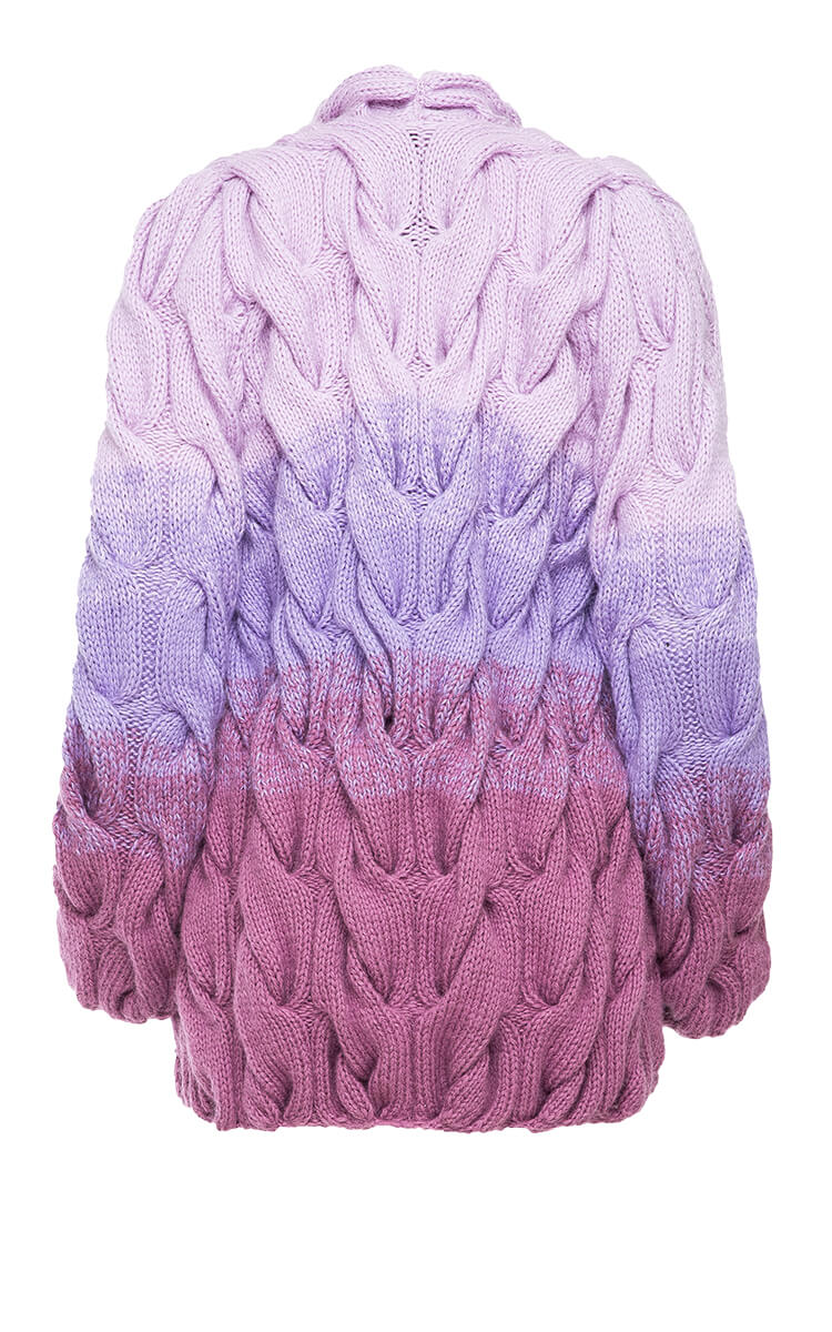 PURPLE OMBRE CARDIGAN