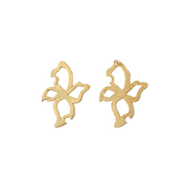 FLORAL GOLD-PLATED EARRINGS | Natia x Lako | CULT MIA