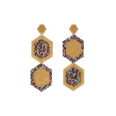 POET DISCO BEADED DROP EARRINGS | Bocanegra | CULT MIA