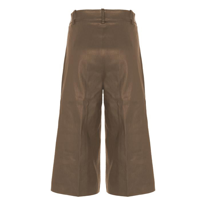 BERMUDA LEATHER PANTS