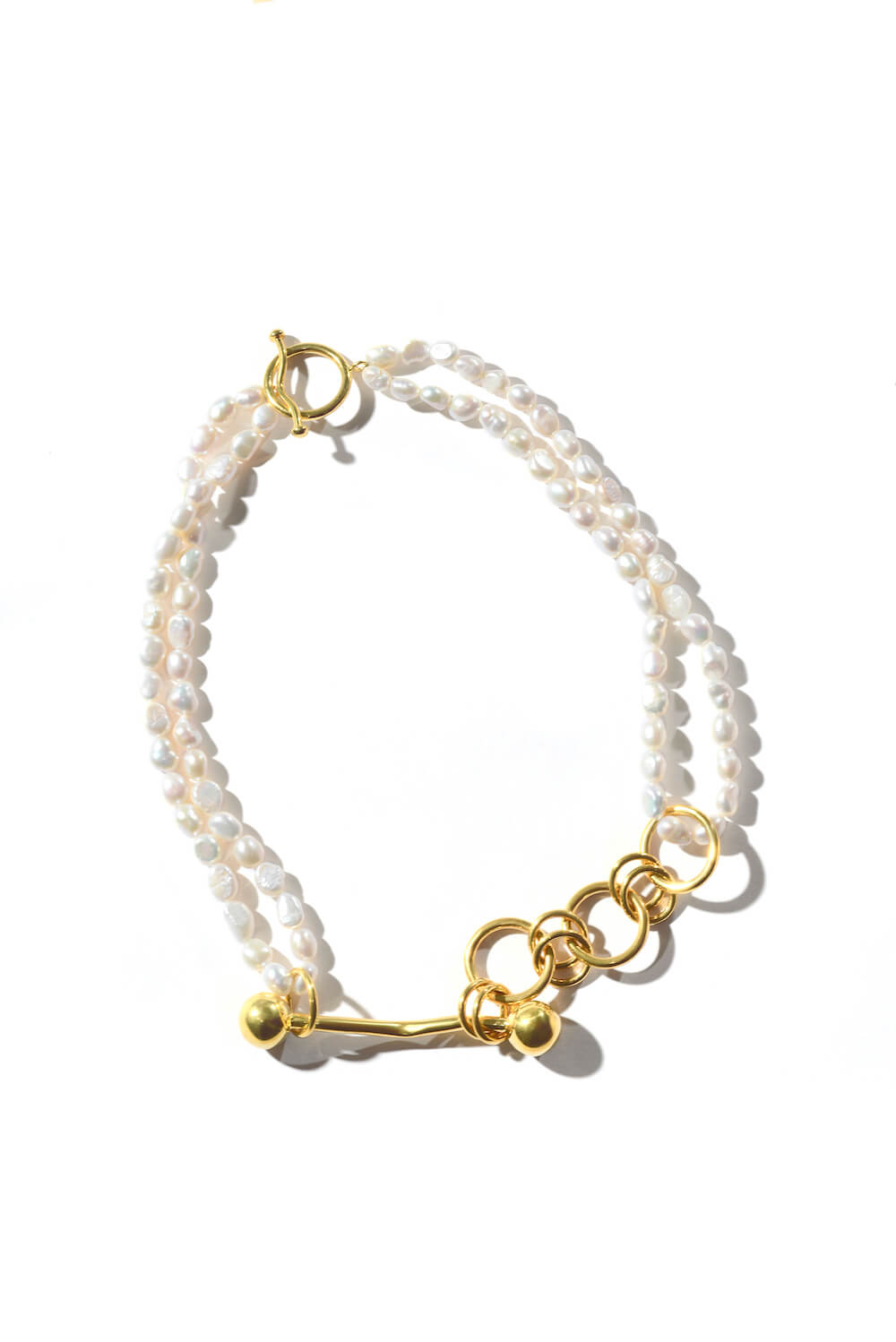 GABRIELLE GOLD-PLATED PEARL NECKLACE