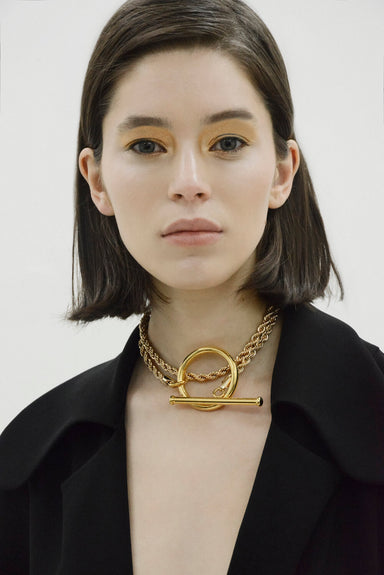 LOUISA GOLD-PLATED CHAIN NECKLACE | Janashia | CULT MIA