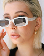 EVIE WHITE SUNGLASSES