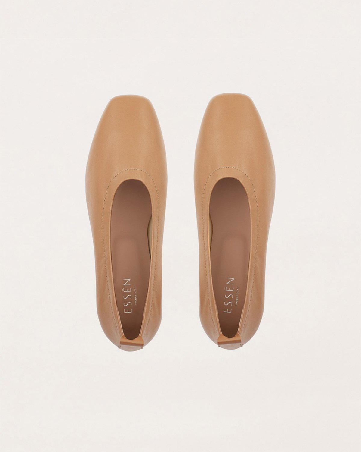 FOUNDATION TAN LEATHER FLATS