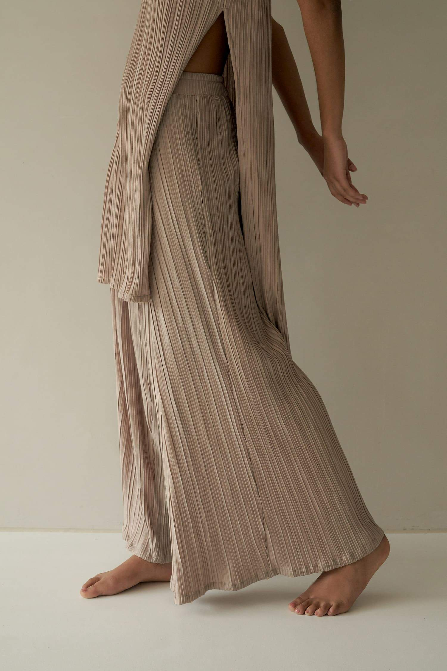 HAVEN PLEATED WIDE-LEG PANTS